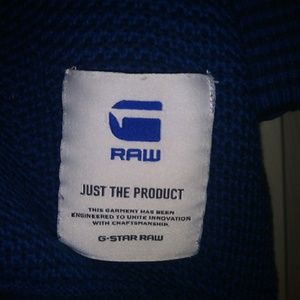 Other - EUC G-STAR RAW blue military button up sweater